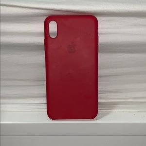 Red Silicon XS Max case